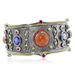 Designer Jewelry DePriest Robbins Eli Jewels Huntsville Alabama Orange and Blue Bracelet