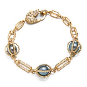 Designer Jewelry DePriest Robbins Jordan Alexander Huntsville Alabama Black Pearl and Gold Bracelet